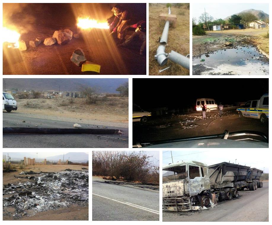 Scenes from community violence & destruction in the past week in the area of Phokathaba Mine