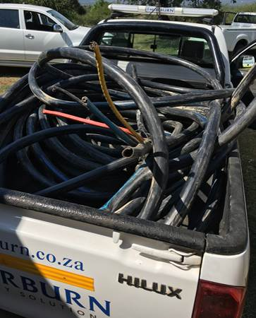"A recovery of cable stolen in a ""military style"" robbery"