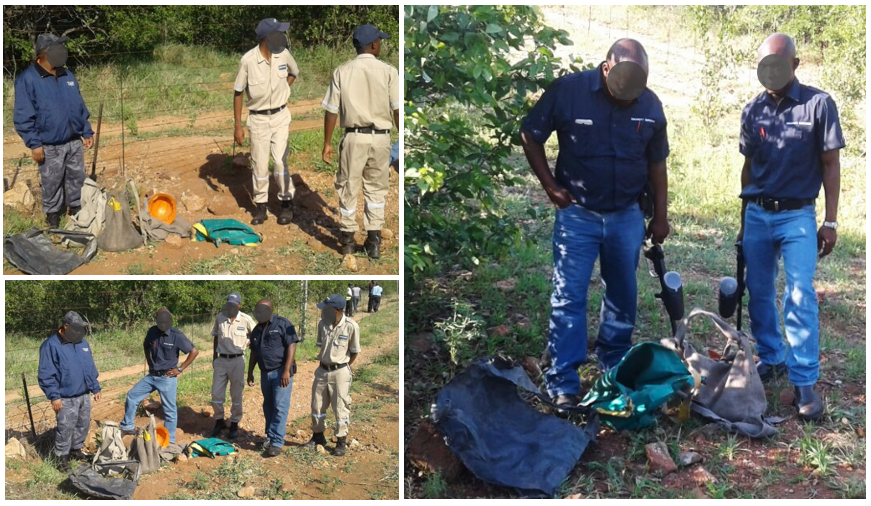 The Thorburn Team who lay in wait for 2 and a half hours from 04h00 to recover stolen copper