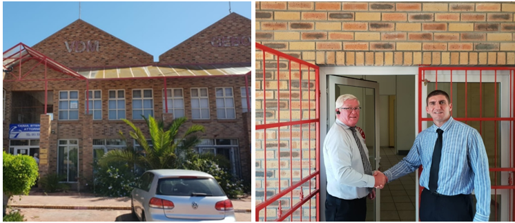 The new offices,with David Goosen and Regional Managing Director, Jonathan Boucher