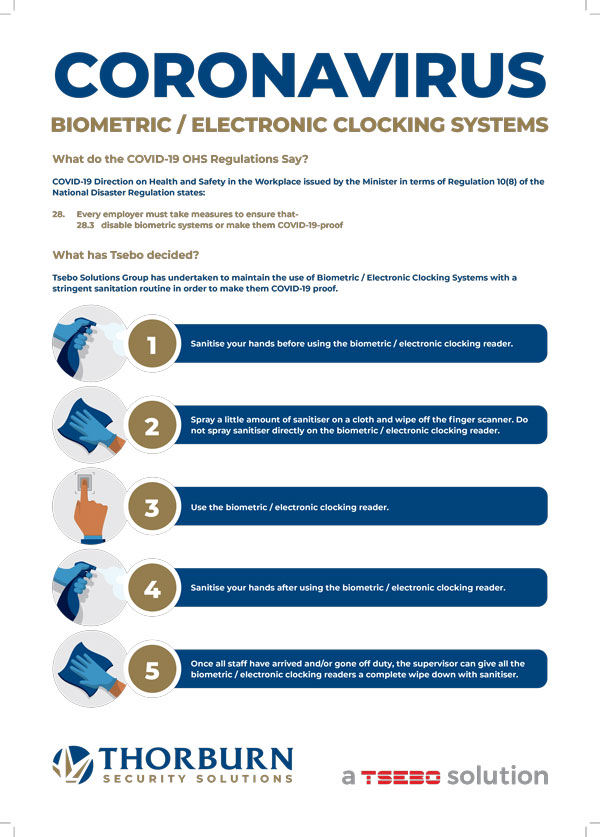 Thorburn Security Services South Africa - Our Values - Biometric Clocking Systems