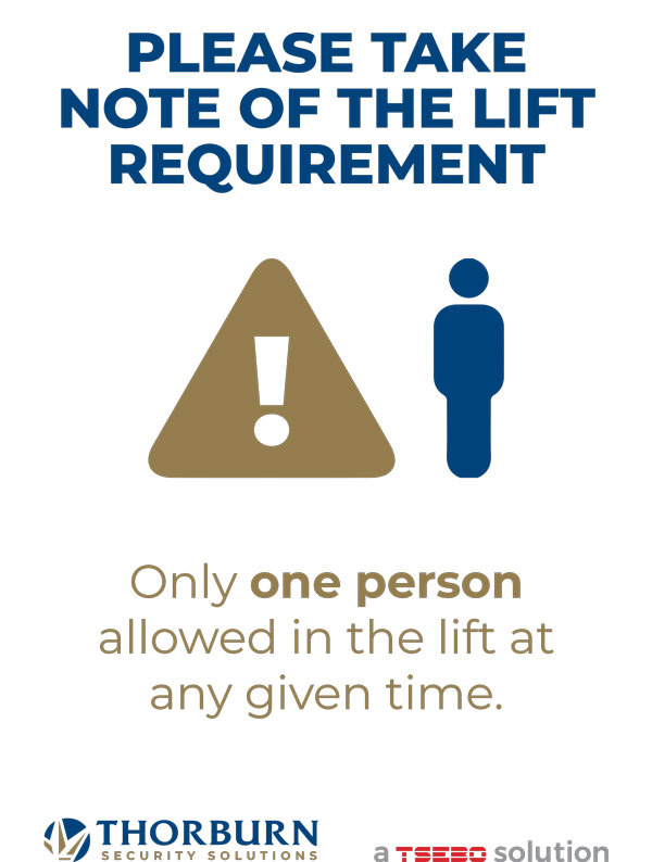 Thorburn Security Services South Africa - Our Values - PLEASE TAKE NOTE OF THE LIFT REQUIREMENT