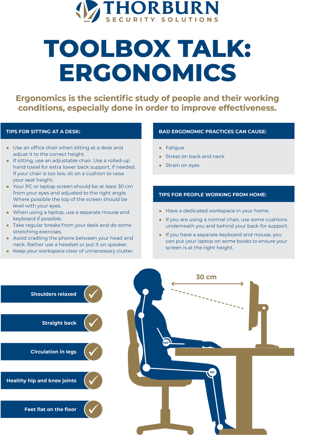 Thorburn Security Services South Africa - Our Values - Toolbox Talk: Ergonomics
